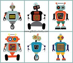 FREE Flip a Robot printable activity book. Also make a nice invitation for a birthday party.