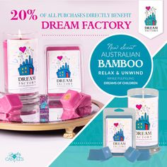 Did you hear the news?! We now offer our Dream Factory candles and tarts in an Australian Bamboo scent! Light a candle and grant a dream with our Dream Factory candles and tarts! 20% of the proceeds directly benefits the Dream Factory!   #ThankfulThursday #JICGivesBack #DreamFactory