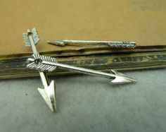100pcs 5x30mm Antique Bronze / Antique Silver Arrow Charms Pendants Jewelry Accessories Wholesale AC3953