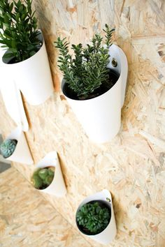 Hanging potted plants. Creative idea for indoor or outdoor decoration! http://www.redesignrevolution.com/creative-flower-pots-opot-by-clara-del-portillo/