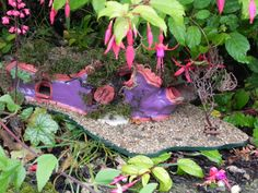 Fairy Homes, Sculptures, Homemade, Heart, How To Make, Fairy Houses, Home Made, Hearts, Hand Made
