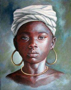African children, afro art, beauty art, african american artist, american w African American Artist, African Art, American Women, Portraits Pastel, Arte Black, African Children, Art Africain, Black Artwork, Black Artists