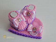 ручной вязаная крючком шапочка и Baby booties.sofia первый моду, ДЕТКА, Disney in Одежда, обувь и аксессуары, Одежда для малышей, Одежда для девочек (новорожденные-5Т)   eBay