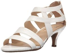 Aerosoles Womens Masquerade Dress Sandal White Snake 75 M US ** Learn more by visiting the image link.