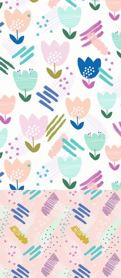 wendy kendall designs – freelance surface pattern designer  » spring tulip
