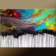 ABSTRACT Modern Art Painting - Original Custom Made to Order Modern Contemporary Fine Art Painting by Destiny Womack - dWo -36x24. $149.00, via Etsy.