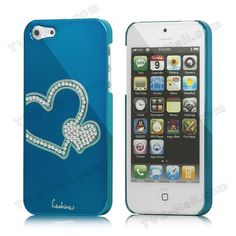 Eileen Heart Rhinestone Inlaid Electroplating Hard Case for iPhone 5 on AliExpress.com. $8.40