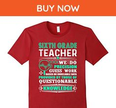 Mens Sixth Grade Teacher Shirt For Women And Men Large Cranberry - Careers professions shirts (*Amazon Partner-Link)