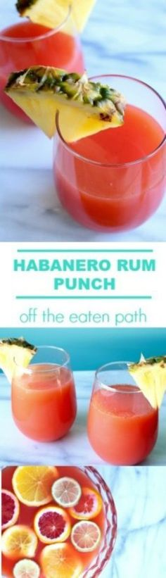 Msg 4 21+: Transport yourself to the tropics this winter with habanero rum punch! Made with @elyucateco Red Habanero Hot Sauce, it's perfect for the big game, a special celebration or just because. #KingofFlavor #ad