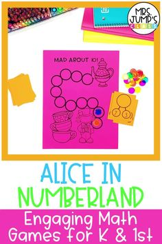 Looking for some fun thematic addition and subtraction first grade activities? These math games are Alice in Wonderland themed and great for first grade math centers.