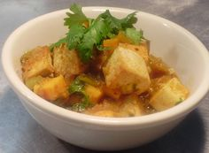 Recipe: Sofrito Rubbed Grilled Tofu with a Green Chili Sweet Potato Ragu. (Follow our other boards for detox, fitness, yoga and green living tips: http://pinterest.com/gaiam)