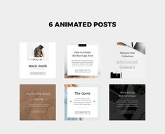 Animated Instagram Stories & Posts by Marie.Smth on @creativemarket