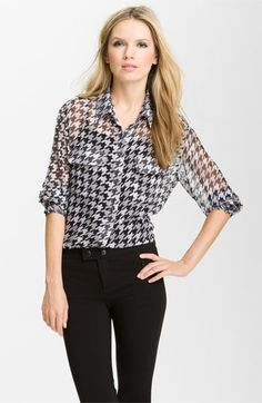 Equipment 'Signature' Houndstooth Shirt