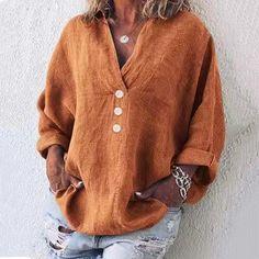 Plus Size Summer Women Cutout Blouse T Shirt Tunic Top – chellymova Loose Shirts, Loose Tops, Casual T Shirts, Linen Shirts, Casual Tops, Collar Shirts, Shirt Blouses, Tunic Shirt, Blouse Ample