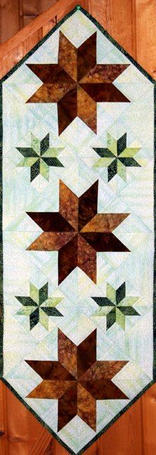 Mini Stars Table Runner, Quiltworx.com, Made by Certified Instructor Sue Wilson.
