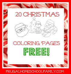 FREE Christmas Coloring Pages - Frugal Homeschool Family