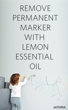 Learn how to remove permanent marker with lemon essential oil!
