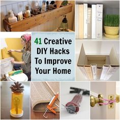 I love a bunch of these ideas: 41 Creative DIY Hacks To Improve Your Home