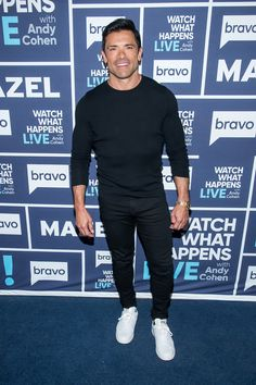 Mark Consuelos on Watch What Happens Live with Andy Cohen, February 2019. Navy Blue carpet runner provided by Red Carpet Entrances. Photos from Guest Dressed album. Courtesy of Bravo TV / NBCUni. Be sure to tune in for more celebrity appearances! Blue Carpet, Red Carpet Event, Kelly Ripa Mark Consuelos, Sewing Binding, Bravo Tv, Harvey Specter, Carpet Runner, Lodges, Corporate Events