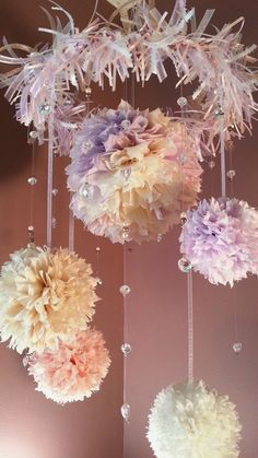 Girls Room or Baby Room Hanging Paper Flower by AccessoryGalleria, $45.00 Something similar maybe for L's room.