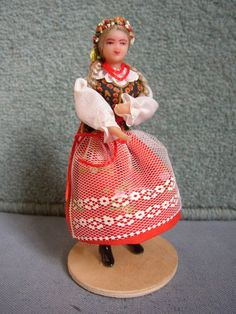 Vtg 1950s Polish doll National Costume Poland Krakow