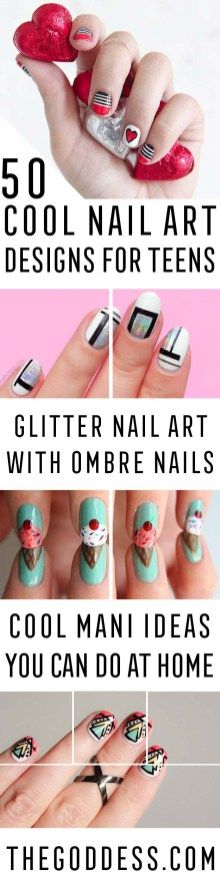 50 Cool Nail Art Designs For Teens (1)
