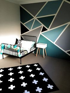 room wall paint design ideas wall painting designs wall paint patterns paint design ideas best wall paint patterns ideas on wall Bedroom Paint Design, Boys Bedroom Paint, Bedroom Wall Designs, Girls Bedroom, Bedroom Decor For Couples, Home Decor Bedroom, Diy Bedroom, Bedroom Ideas, Boys Bedroom Colors