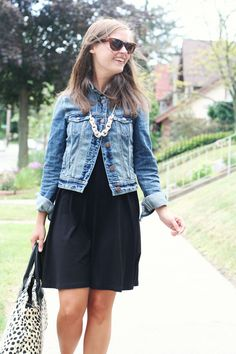 jillgg's good life (for less) | a style blog: my everyday style: a little black dress on a weekday!