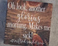 Hocus Pocus Block Sign / Sanderson Sister Block Sign / Fall Block Sign / Fall Wood Sign