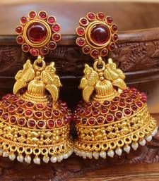 Buy Gorgeous high gold  plated geru polish antique jumkas jhumka online