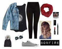 """""""Bonfire Attire Plus Size"""" by cosmicdeep on Polyvore featuring Lucky Brand, Converse, New Look, Steve Madden, NARS Cosmetics, Givenchy, Chanel, Witch Worldwide, Fall and Jeanjacket"""