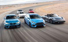 The Leftovers: Chevrolet Camaro 1LE vs. BMW M2 vs. Ford Focus RS vs. Fiat 124 Spider Abarth vs. Porsche 718 Boxster S vs. Toyota 86