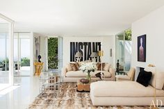 """Daniel Romualdezs Los Angeles Home - i like his quote: """"a New Yorker's fantasy of living in L.A."""""""