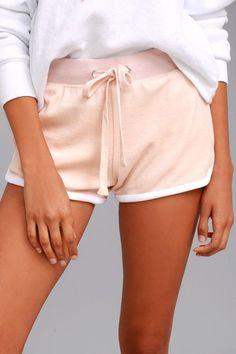 Candy Shop Blush Pink Velour Shorts