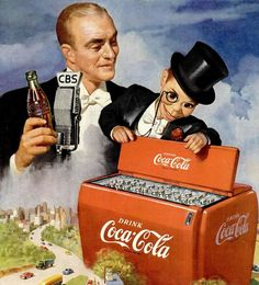 tv show ads 1950 | Edgar Bergen & McCarthy Coca-Cola ad Life Mag 6 feb 1950 det | Flickr ...