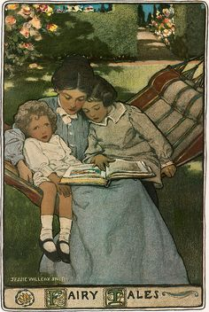Jessie Willcox Smith A Mothers Days - Fairy Tales 1903 by Plum leaves, via Flickr