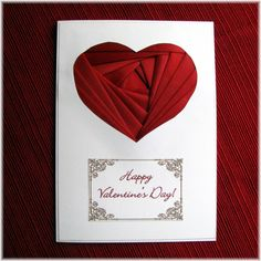Red Heart Valentine Iris Folding Card by WineCountryLife on Etsy