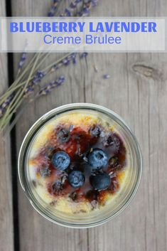 Blueberry Lavender Creme Brulee infuses the essence of lavender and fresh blueberries to form a rich, creamy, delicious dessert. Delicious Desserts, Easy Desserts, Best Dessert Recipes, Sweets Recipes, Brunch Recipes, Easy Gluten Free Desserts, Vegetarian Desserts, Easy Baking Recipes, Yummy Food