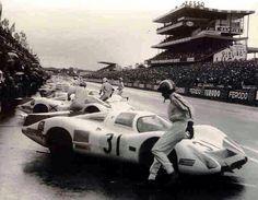 1968 partida das 24 Horas de Le Mans.