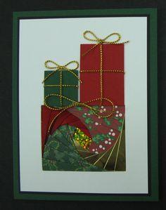 "Iris Folding - Christmas Presents. Pattern from ""460 Iris Folded Cards to Make: The Complete Iris Folding Compendium"" 978-1844483088"