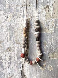 Collar largo de cerámica collar de abalorios de por bininaor