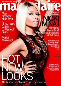 Marie Claire August 2013: Nicki Minaj photographed by Satoshi Saikusa.
