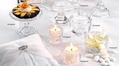 Alzatine, portacandele e contenitori in vetro