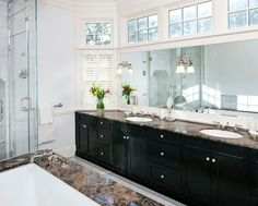 Transom windows in bathrooms - light and privacy  10 Architectural Features I Love | The House that A-M Built |