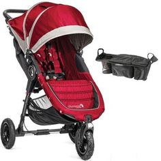 Baby Jogger  City Mini GT Single Stroller with Parent Console  Crimson Gray * Find out more about the great product at the image link. This is an Amazon Affiliate links.