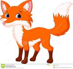 Cute Fox Cartoon Stock Illustration - Image: 61377924