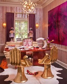 golden Hand chairs #studio #workplace #gold #home #room #deco #furniture #interior #design #decor