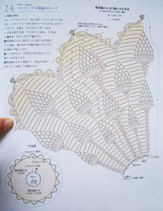 пелерина с узором ананасы схема