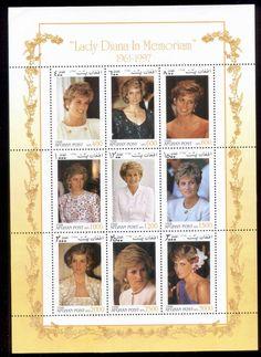 Afghanistan 1997 Princess Diana in Memoriam MS MUH