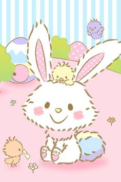 Cool and colorful kawaii style wallpapers to fit your iPhone iPhone iPhone Galaxy and Galaxy Note Hello Kitty Wallpaper, Kawaii Wallpaper, Bunny Art, Cute Bunny, Adorable Bunnies, Cute Backgrounds, Cute Wallpapers, Iphone Wallpapers, Phone Backgrounds